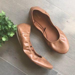 A.N.A Joy Scrunch Brown Ballet Flats
